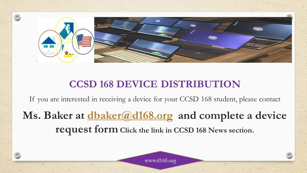 CCSD 168 Device Distribution