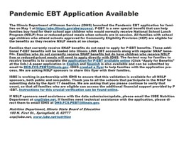 EBT Application