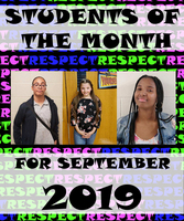 Student of the Month Sept 2019