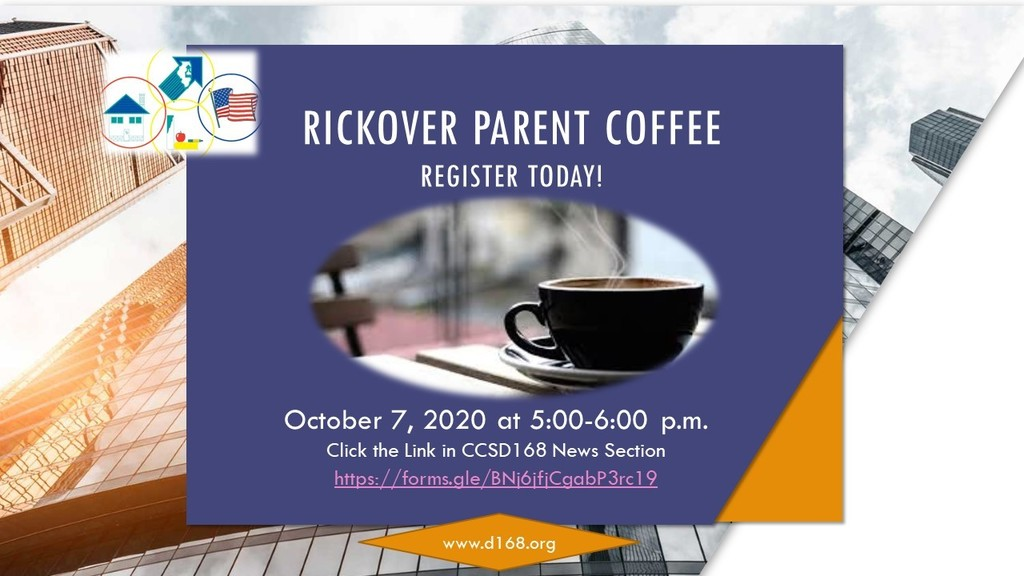 Register Today for Rickover Parent Coffee Chat!