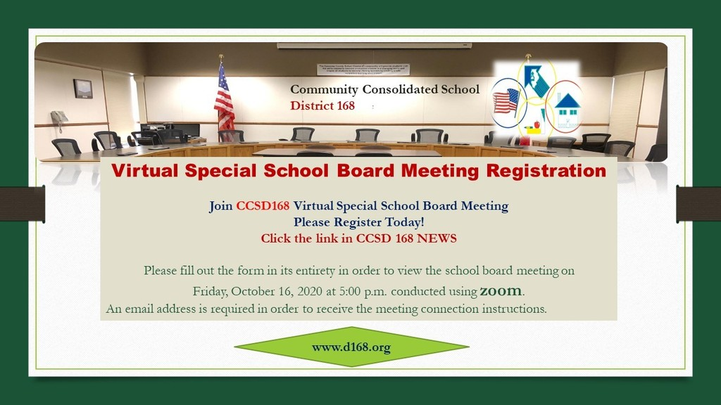 Register Today for Special Virtual School Board  Meeting