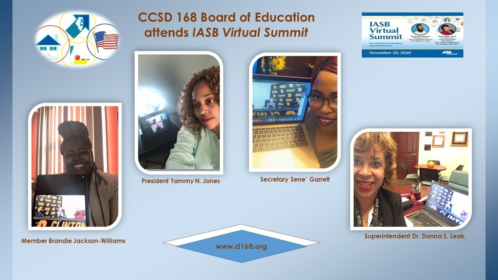 CCSD 168 Board of Education Attends IASB Virtual Summit