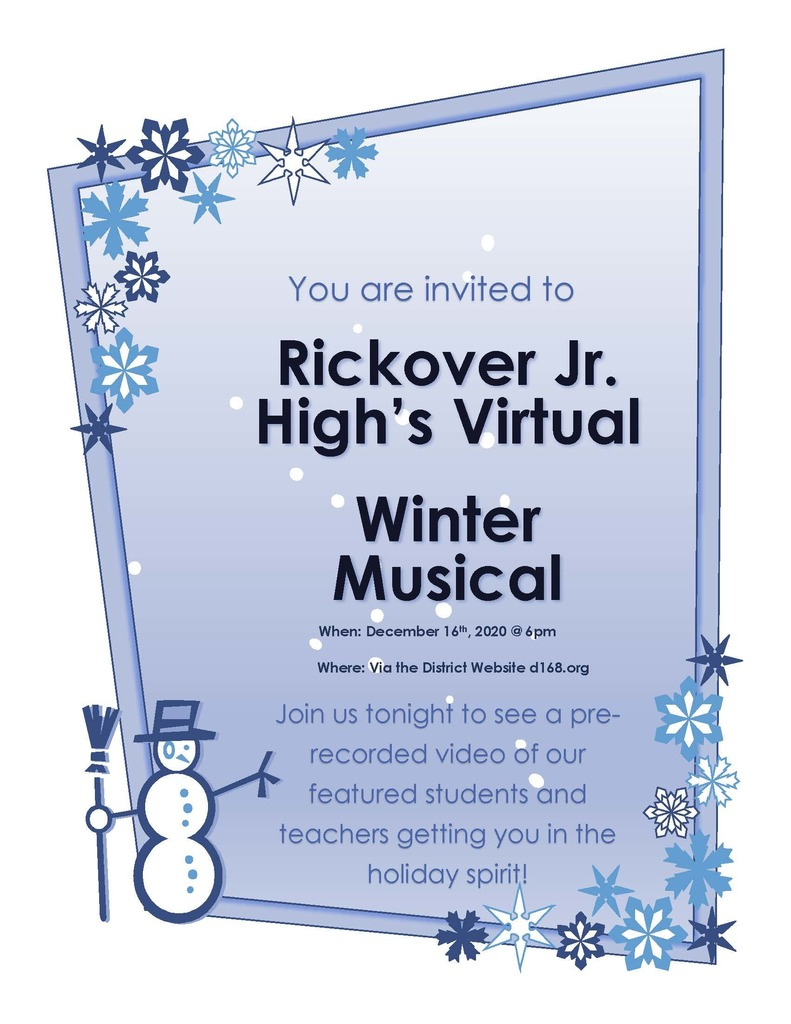 You are invited to Rickover's Winter Musical
