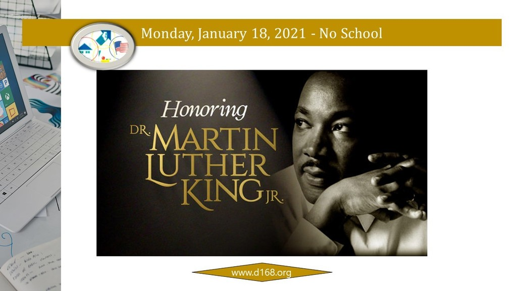 Honoring Dr. Martin Luther King Jr. - No School on Monday, January 18, 2021