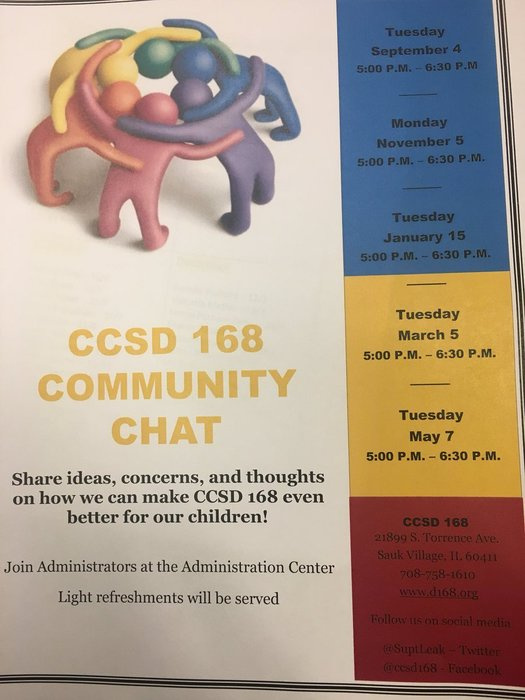 CCSD 168 Community Chat, ideas, concerns and thoughts about how we can make CCSD 168 even better for our children