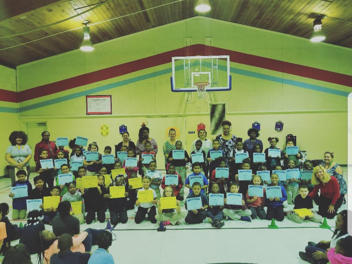 Gold and Blue Honor Roll Winners in 3rd Grade