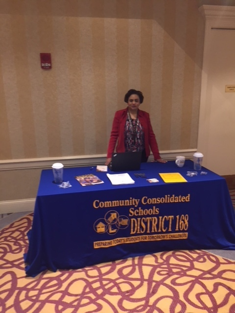 #d168excels HR Coordinator Mrs. Harris recruits social workers at the National Association of Social Workers Illinois Chapter Convention in Lisle, IL.