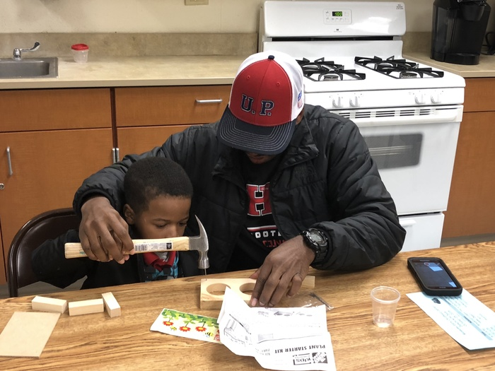 #d168excels Homewood Home Depot came to Blossoms to lead a project during Donuts with Dad.