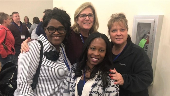 #d168excels CCSD 168 administrators & office personnel at the 28th Annual Illinois Skyward User Group Conference at the Peoria Civic Center.