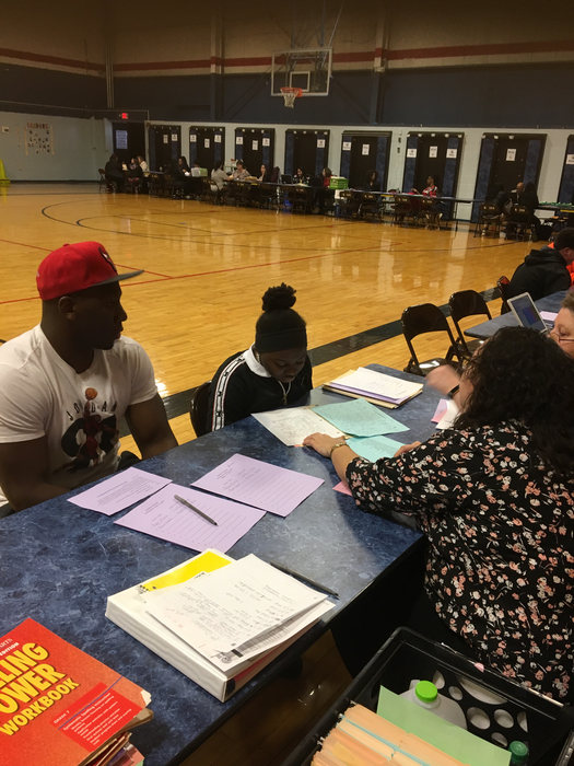 Student Lead Conferences going on at Rickover Jr. High