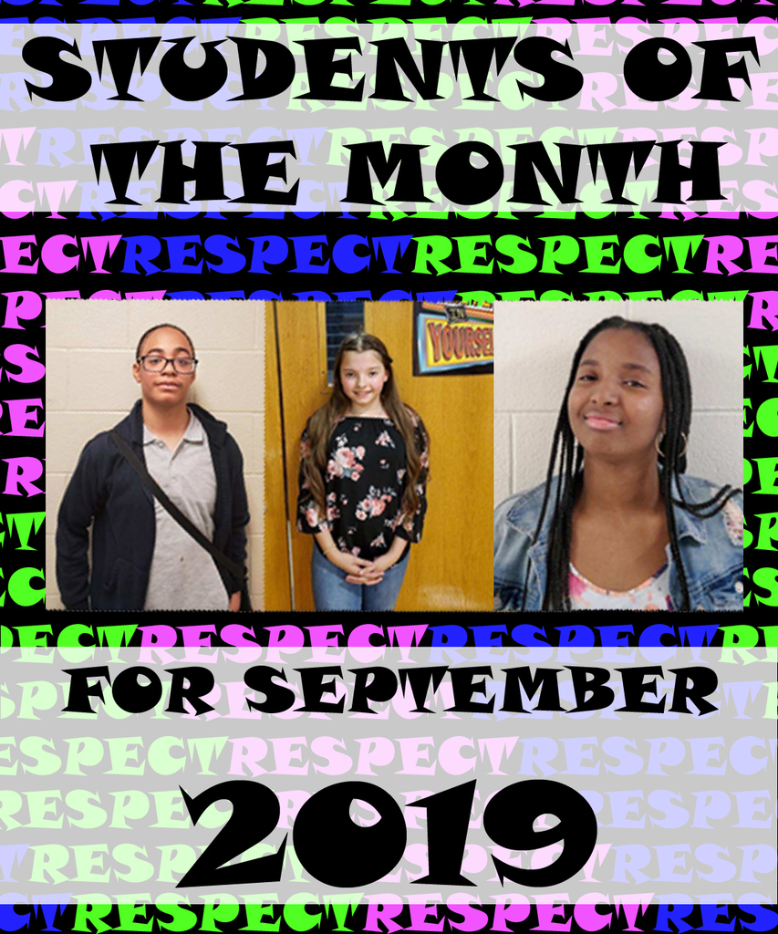 Sept 2019 Student of the Month (Respect)