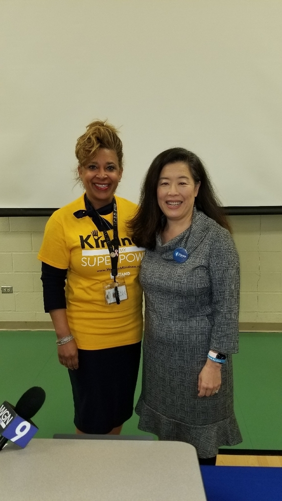 Superintendent Dr. Donna Leak and Mimi Rodman Executive Director of STAND for Children
