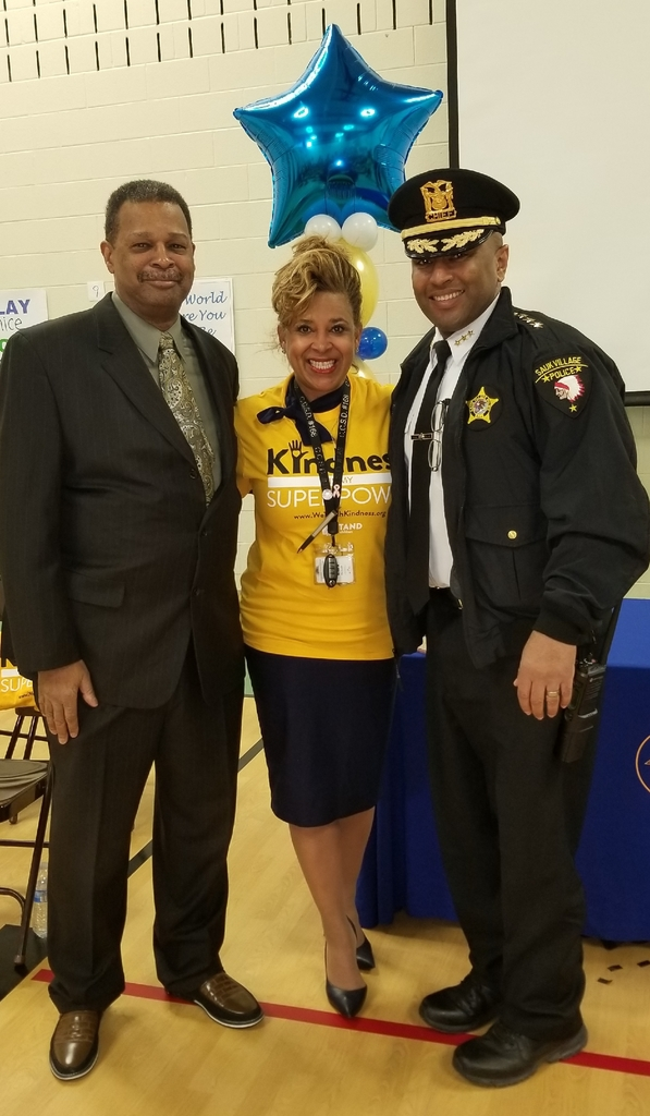 Mayor Derrick Burgess, Dr. Donna S. Leak, and Police Chief Malcolm J. White