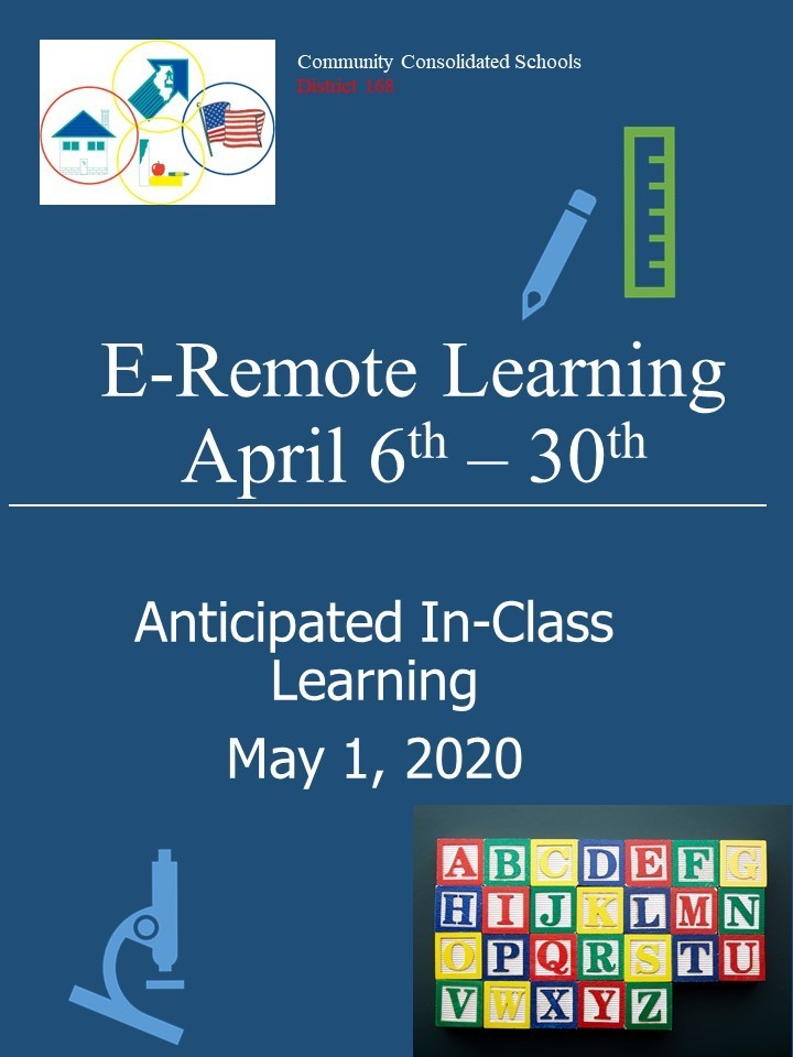 #d168excels E-Remote Learning April 1-30, 2020