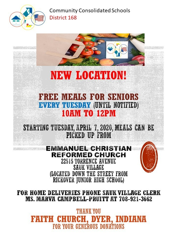 New Location - Meals for Seniors