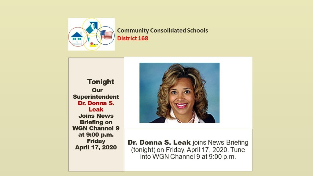 Dr. Donna S. Leak joins news briefing on WGN 9 at 9 p.m.