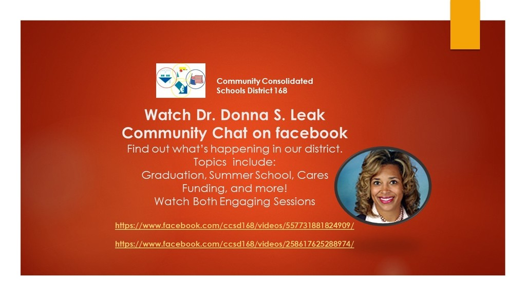 Watch Dr. Donna S. Leak Community Chats videos on Facebook Live