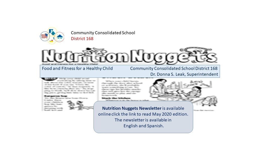 Nutrition Nuggets Newsletter is available online. Click https://5il.co/g3x6  for May 2020 edition.