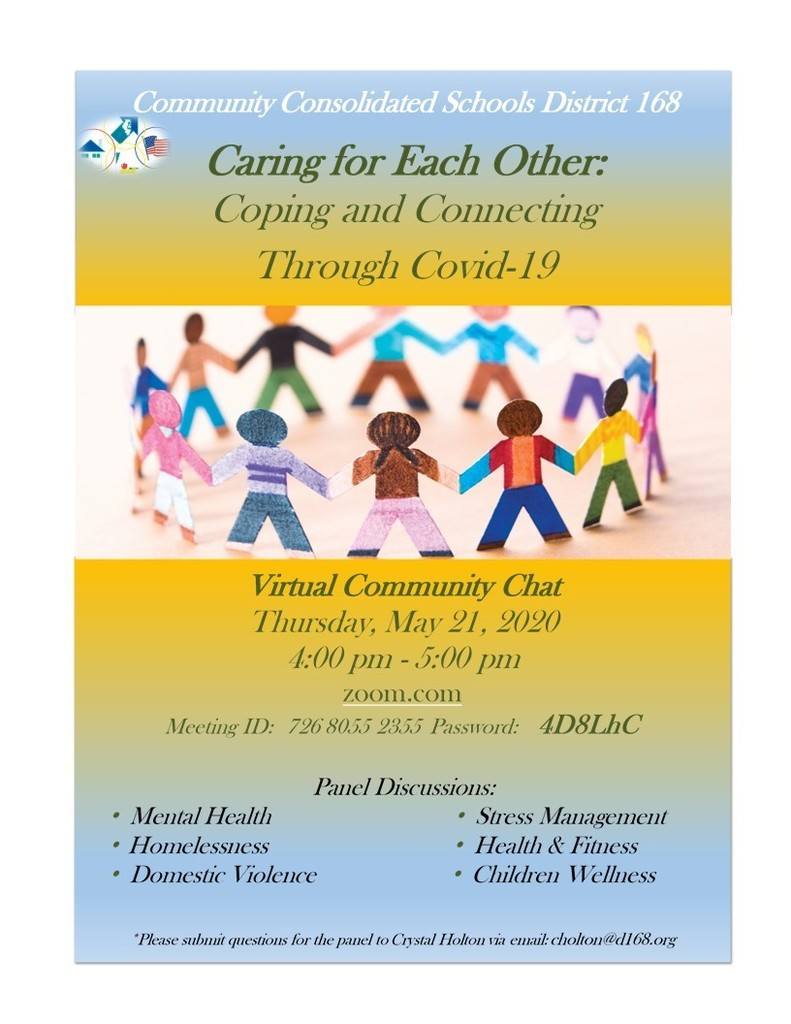 #d168excels - Virtual Community Chat - Caring for Each Other