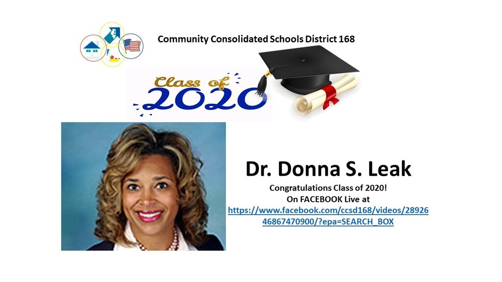 Watch Dr. Donna S. Leak Congratulate the Class of 2020 Live on Facebook