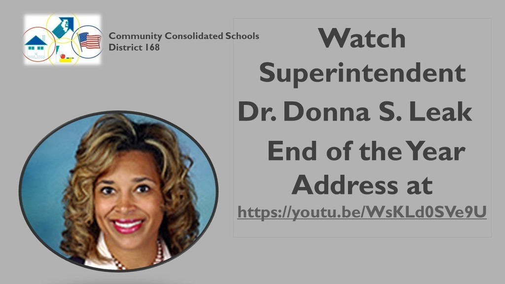 Superintendent's End of the Year Address