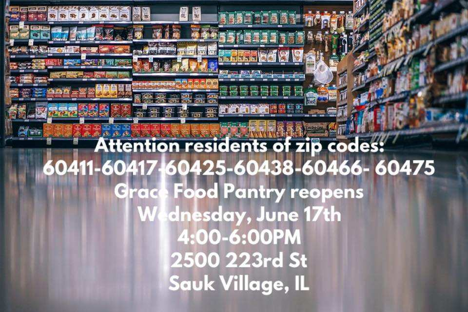 Grace Food Pantry Reopens on Wednesday, June 17, 2020