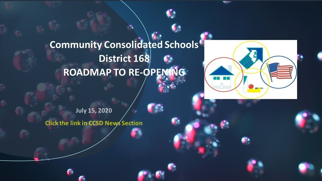 #d168excels-CCSD168 Roadmap to Re-Opening - ​Learn about CCSD168 Six Points to Re-Opening: ​• Health & Wellness  • Instruction  • Transportation  • Operations  • Human Resources  • Communications  ​ Click https://5il.co/ib9u​