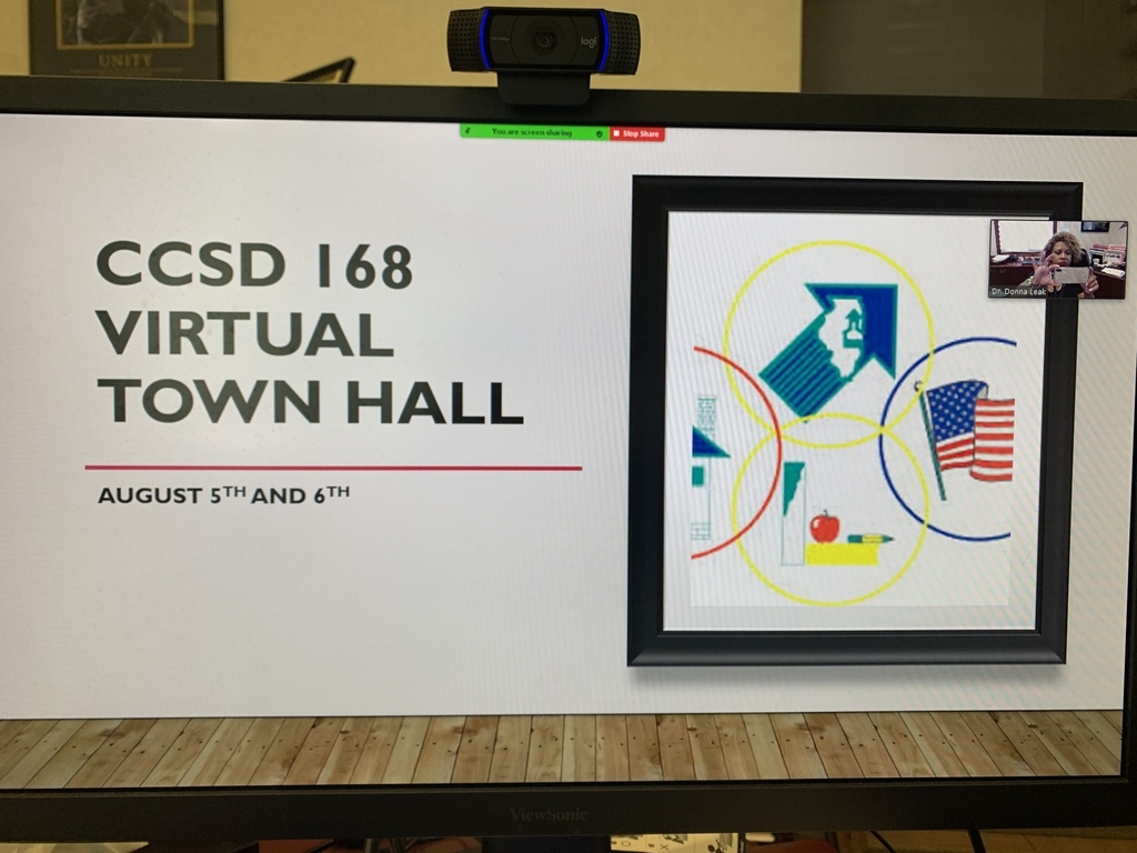 Virtual Town Hall August 6th at 4 pm