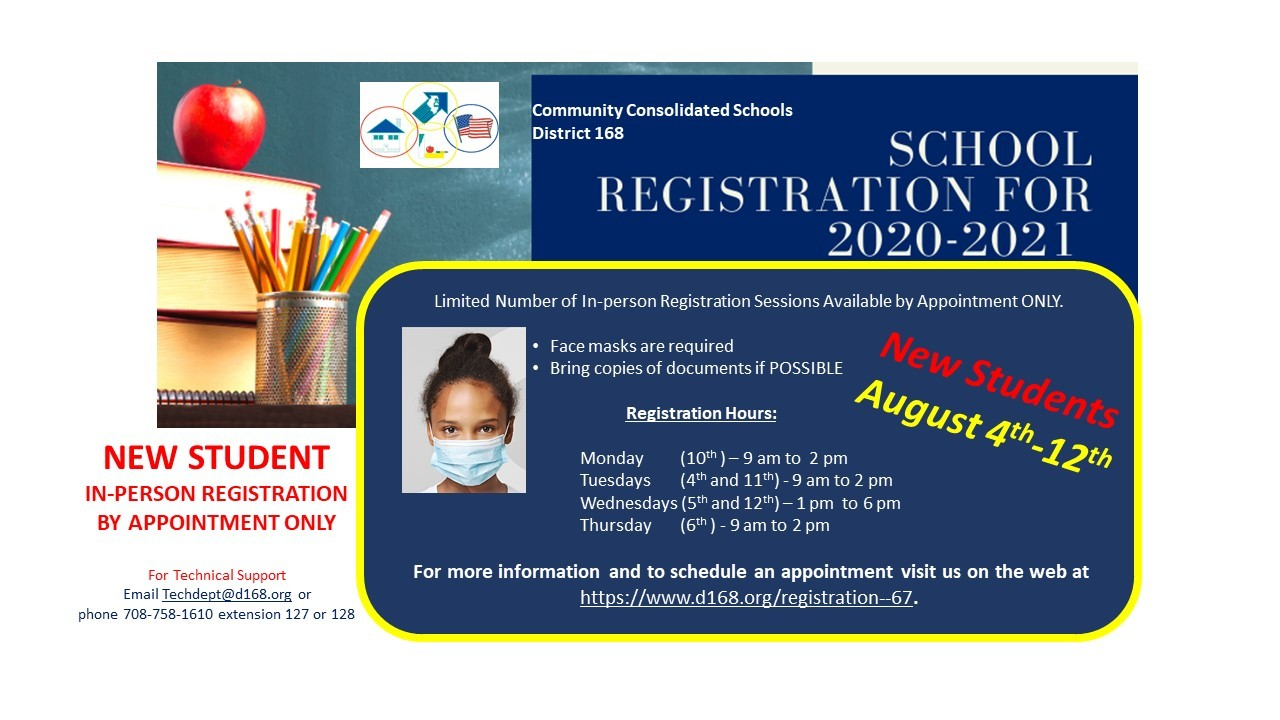 In-Person Registration by Appointment Only August 4th-12th